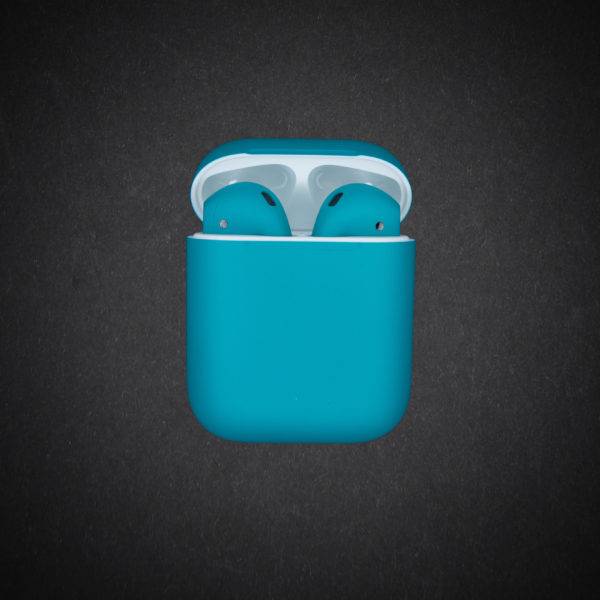 blue airpods