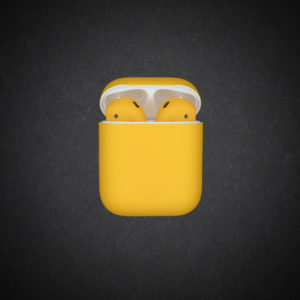 yellow airpods